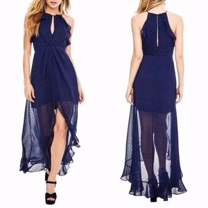 NEW ASTR the LABEL SPARKLE NAVY Arielle MAXI DRESS